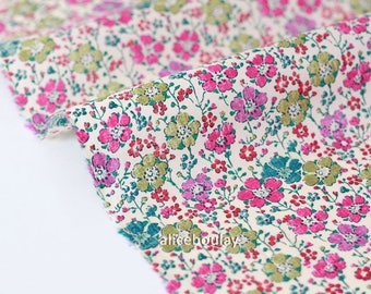 Green Liberty of London 53x136cm clarisse A pink fabric