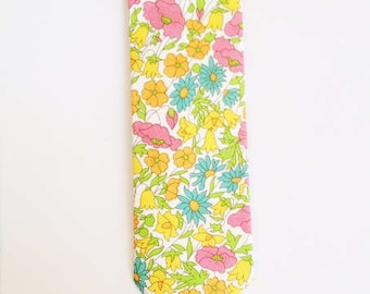 SHIPS IMMEDIATELY, Liberty of London Tie, yellow tie, yellow skinny tie, yellow men's tie, yellow floral tie, fall tie, groomsmen tie, fall