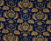 Navy blue and gold vintag...