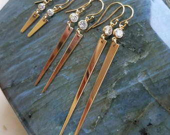 Spike Earrings with Cubic Zirconia
