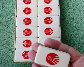Vintage 1950s Dominoes 50s Domino Set Continental Airlines Airline Memorabilia