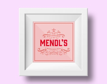 Mendl's, The Grand Budapest Hotel, Print, Art, Pink, Patisserie