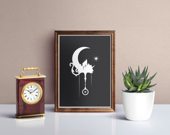 Clock Tower Illustration Digital Prints