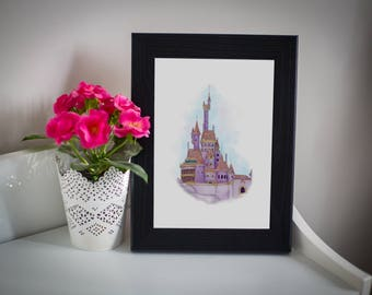 Beauty and the Beast Castle A5 Print