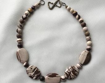 Zebra Jasper Gemstone Necklace