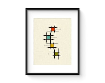 MOVE - 8x10 Version - Giclee Print - Mid Century Modern Danish Modern Minimalist Cubist Modernist Abstract Eames