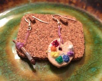 Painter's earings