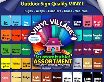 """1 roll 9""""x5 feet  Adhesive Backed Vinyl YOU PICK COLORS Outdoor sign quality, Craft cut cutters Gloss, wraps, tumblers, glass, vehicles"""