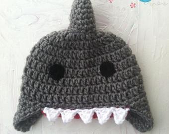 Crochet Shark Hat - Crochet Shark Beanie - Shark Hat - Shark Beanie