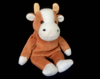 TY Beanie Baby Bessie the Cow | Vintage Plush Toy | Retired | 1995