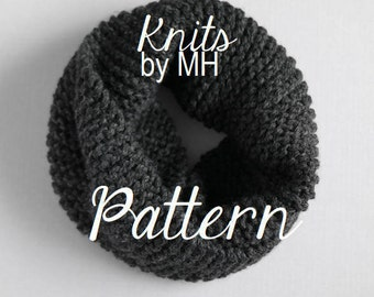 Chunky Cowl Pattern //  Knit Cowl  // Chunky Knit Scarf // Infinity Scarf