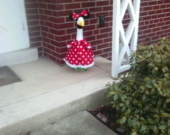 Goose Clothing  -  Minnie Mouse Goose Outfit for Plastic and Concrete Lawn Goose