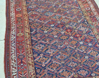 Antique Persian Qashqai Tribal rug - 5'7 x 10'2 - 170 x 310 cm. - Free shipping!