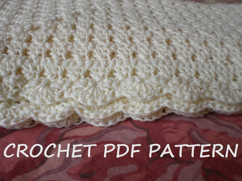 Crochet Baby Blanket Pattern. PDF 020. from vivartshop on Etsy Studio