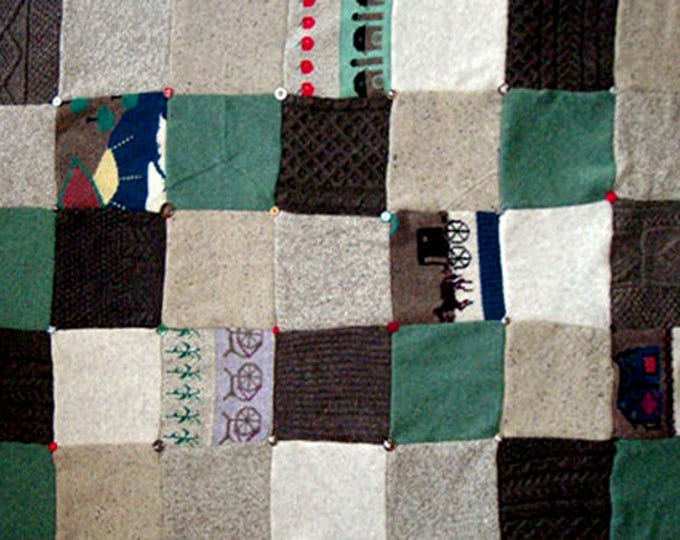 "My ""Amish Country"" Wool Sweater Quilt — I can make one similar for you!"