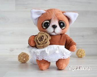 Fox Julia toy, fox toy, fox soft toy, fox handmade, fox gift