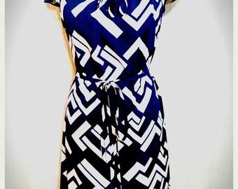 Silk Dress, Blue Dress, Midi Dress, byHandmade Silk Summer Dress