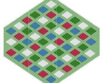 Multi Diamonds, pattern for peyote