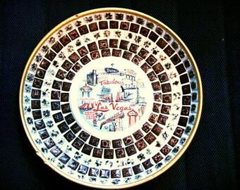 Retro Souvenir The Fabulous Las Vegas 1950's Sin City Rat Pack Era Decorative Tile Plate Wedding Nevada