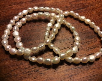 White pearl bacelets
