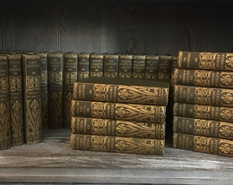 1896 Antique Books- Honore de Balzac La Comedie Humaine 36 Volume Collection