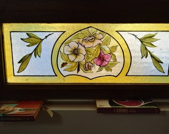 Salvaged, Rescued, Hand Painted Vintage Window