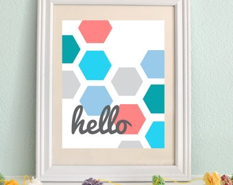 Vertical Hello Sign || Greeting Sign INSTANT DOWNLOAD