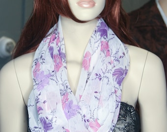 DBM: Pink Floral Infinity scarf