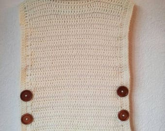 Girls crochet gilet over jumper top poncho warm cuddly age 4+ ready to post