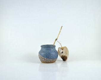 Tiny Stoneware Vase, Vintage Miniature German Pottery Vase, Vintage Miniatures,Vintage Mid Century Modern Studio Pottery Stoneware Mini Vase
