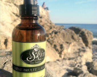 Creme Brulee ORGANIC ARGAN OIL || Cold Pressed || Available in a 2 or 4 oz glass bottle || Luxurioius Body Oil  and Hair Oil