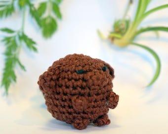 dog plushie keychain - crochet amigurumi