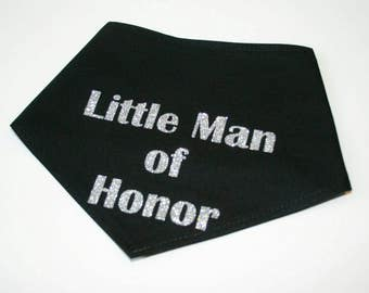 Dog BANDANA, Custom Dog, Bandana, Man of Honour, Personalized Dog Bandana, Dog Scarf, Black, Vinyl