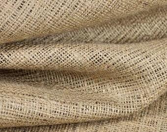 "Natural 100% Jute Burlap  Fabric 42"" wide x 36"" long"