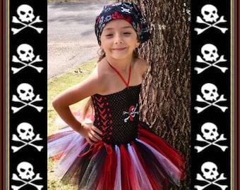 Pirate Girl tutu dress / Pirate Girl Costume