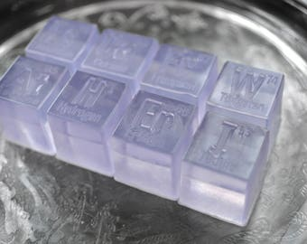 8 Element Soap Cubes / Atom Soap / Chemistry Soap - A Perfect Gift for a Teacher or Scientist
