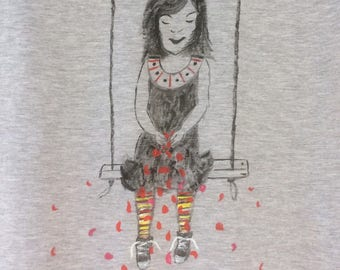 """""""Birth of the roses"""" t-shirt, size M, short sleeves"""