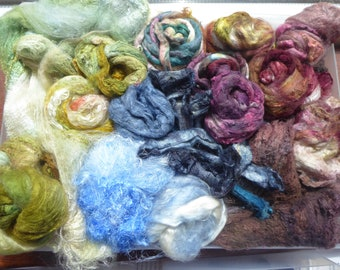Luxury hand dyed silk selection a great mix of colour and textures - LMSP21