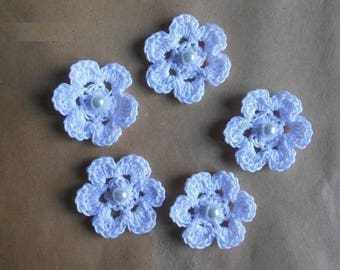 White Crochet flower/crocheted flowers