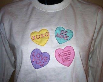 Personalized Sweatheart Candy Conversation Heart Shirt