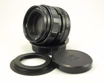 Helios 44M-4 2/58 USSR Portrait Lens for Canon EOS mount f/2 M42 58 mm lens Russian Soviet Photo 350D 400D 450D 5D Mark 500D 550D 750D 1000D