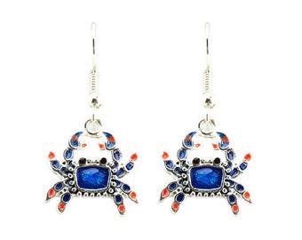 Blue Crab Earrings