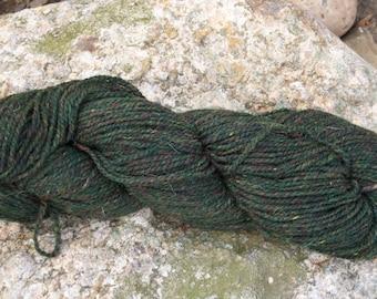 Green Heather- Dk weight- Border Leicester yarn- 100% wool