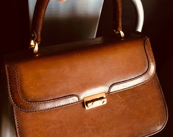 """Bag retro brown leather """"Marie-O"""""""