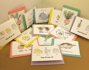 Value Card Pack! - Choose 5 of any cards listed on Bobentto's shop - Birthday Card, Love Card, Friendship Card, Blank Card