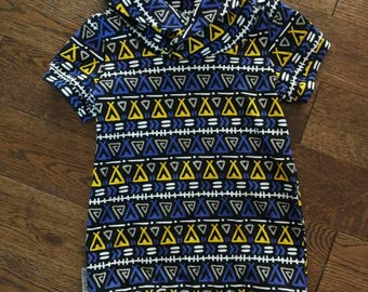Tunic with short sleeves and collar kids Teepee