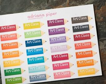 Art Class Stickers for Erin Condren Life Planner, Plum Paper Planner, Filofax, Kikki K, Calendar or Scrapbook SH-403