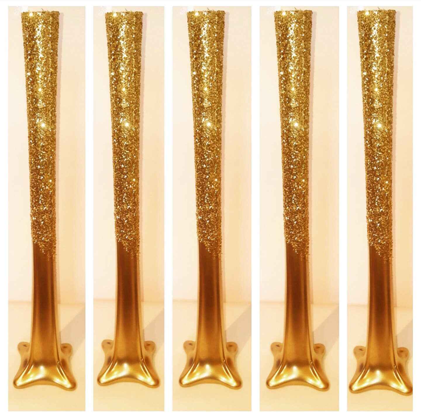 Set of 5 20 tall tower vase gold tower vases glitter zoom reviewsmspy