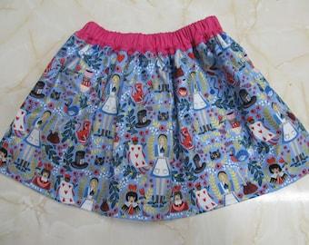 Sale - Alice In Wonderland Children's Skirt - Sizes 2T and 3T