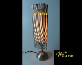 Industrial 'Betty' Steel Handmade Steampunk Table Lamp Machine Made in USA, FREE SHIPPING